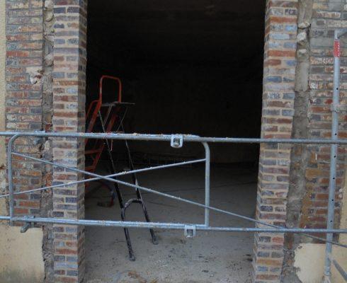Réalisation d'une ouverture d'un mur de façade